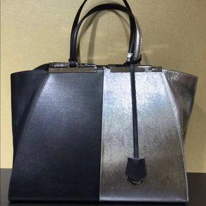 Fendi 3jours bi-color black/silver. Like new!
